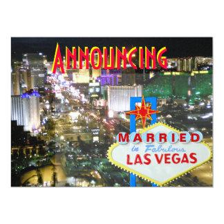 Invitación de la boda de Las Vegas con la Invitación 16,5 X 22,2 Cm
