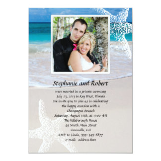Invitación de la boda de los votos de Coastal con