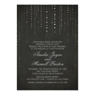 Invitación de la bodas de plata negra y