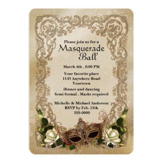 Invitación de la bola de mascarada de los rosas