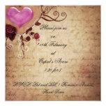 Invitación de la bola del el día de San Valentín Invitación 13,3 Cm X 13,3cm