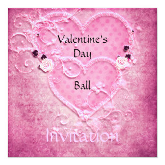 Invitación de la bola del el día de San Valentín