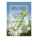 Invitación de la bomba de la flor invitación 12,7 x 17,8 cm
