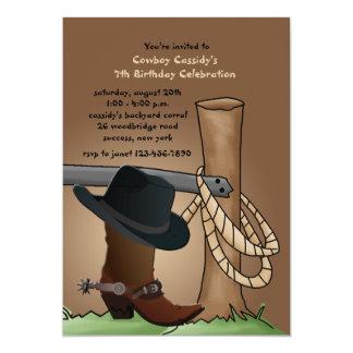 Invitación de la bota de vaquero