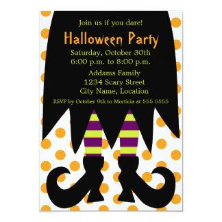 Invitación de la bruja del fiesta de Halloween