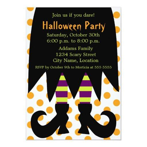 Invitación de la bruja del fiesta de Halloween Invitación 12,7 X 17,8 Cm