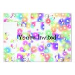 Invitación de la burbuja del rompecabezas invitación 12,7 x 17,8 cm