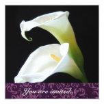 Invitación de la cala invitación 13,3 cm x 13,3cm