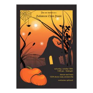 Invitación de la calabaza de Halloween