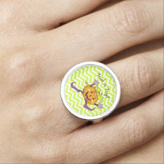 Invitación de la calabaza de la diversión anillos con foto