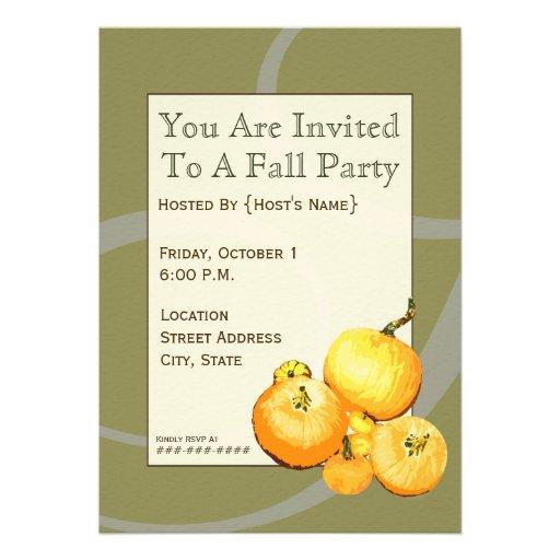 Invitación de la calabaza del fiesta de la caída