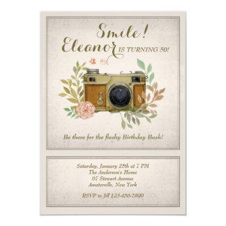 Invitación de la cámara del vintage