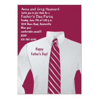 Invitación de la camisa del caballero