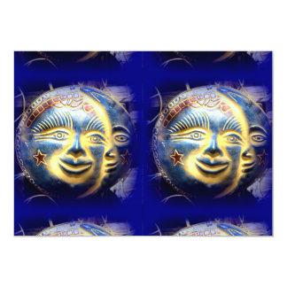 invitación de la cara de luna de la cara del sol