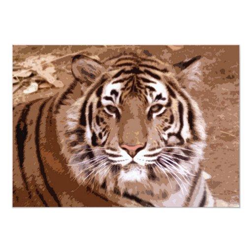 Invitación de la cara del tigre