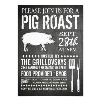 Invitación de la carne asada del cerdo de la pizar