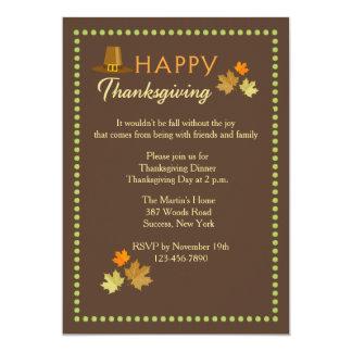 Invitación de la carpa de la acción de gracias