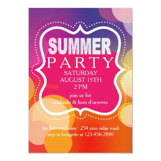 Invitación de la carpa del fiesta del verano
