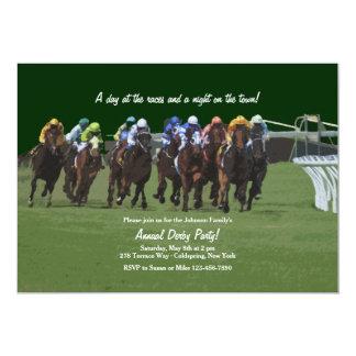 Invitación de la carrera de caballos de la
