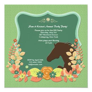 Invitación de la carrera de caballos del círculo