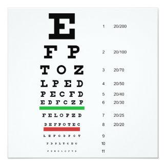 Invitación de la carta de ojo de Snellen