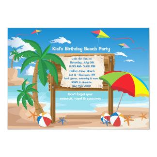 Invitación de la cartelera de la playa