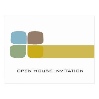 Invitación de la casa abierta de la compañía tarjeta postal