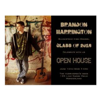 Invitación de la casa abierta de la foto del tarjeta postal