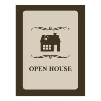 invitación de la casa abierta de la MOD Postales