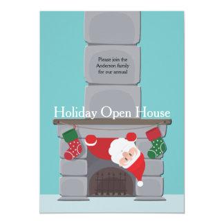 Invitación de la casa abierta del día de fiesta