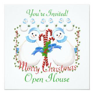 Invitación de la casa abierta del navidad invitación 13,3 cm x 13,3cm
