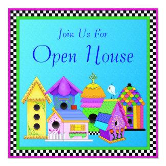 Invitación de la casa abierta del pueblo del