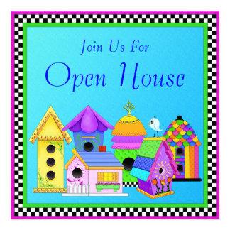 Invitación de la casa abierta del pueblo del chirr