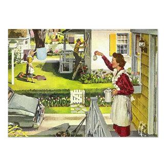 Invitación de la casa abierta del vecino de la