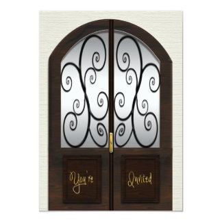 Invitación de la casa abierta - puerta doble de
