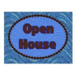 invitación de la casa abierta tarjetas postales