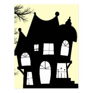 invitación de la casa encantada postales