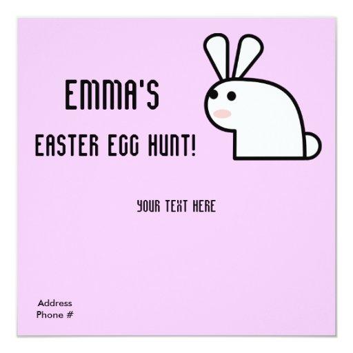 Invitación de la caza de Egg de Sr. White Wabbit