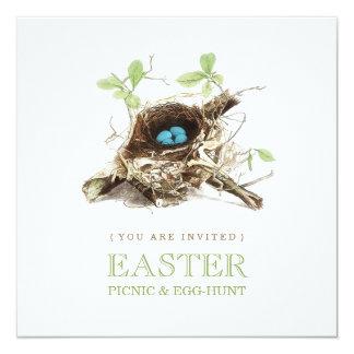 Invitación de la caza de la comida campestre y del invitación 13,3 cm x 13,3cm