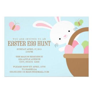 Invitación de la caza del huevo de Pascua
