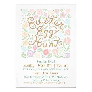 Invitación de la caza del huevo de Pascua de las