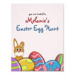 Invitación de la caza del huevo de Pascua de los