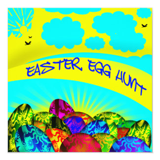 Invitación de la caza del huevo de Pascua de los Invitación 13,3 Cm X 13,3cm
