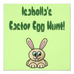 Invitación de la caza del huevo de Pascua del Invitación 13,3 Cm X 13,3cm