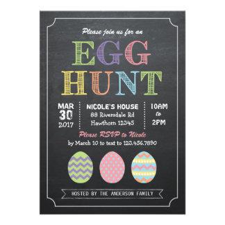 Invitación de la caza del huevo de Pascua invitaci
