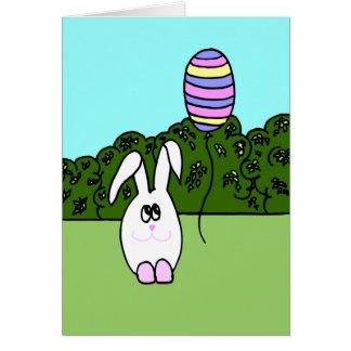 Invitación de la caza del huevo de Pascua Felicitación