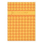Invitación de la celebración, control anaranjado invitación 12,7 x 17,8 cm