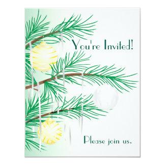 Invitación de la celebración de días festivos invitación 10,8 x 13,9 cm