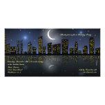 Invitación de la celebración de días festivos de l tarjeta personal