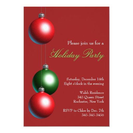 Invitación de la celebración de días festivos en